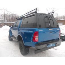 Багажник KDT с боковыми бортами и спойлером для кунга/каркаса грузового алюминиевый - Toyota Hilux